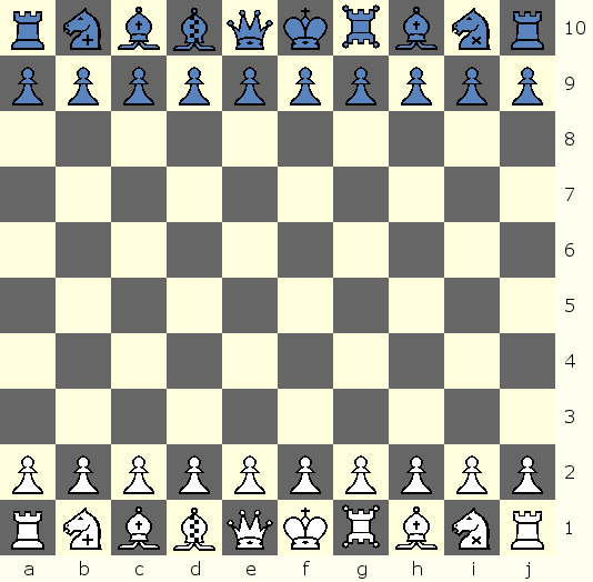 Start Position for Asylum Chess