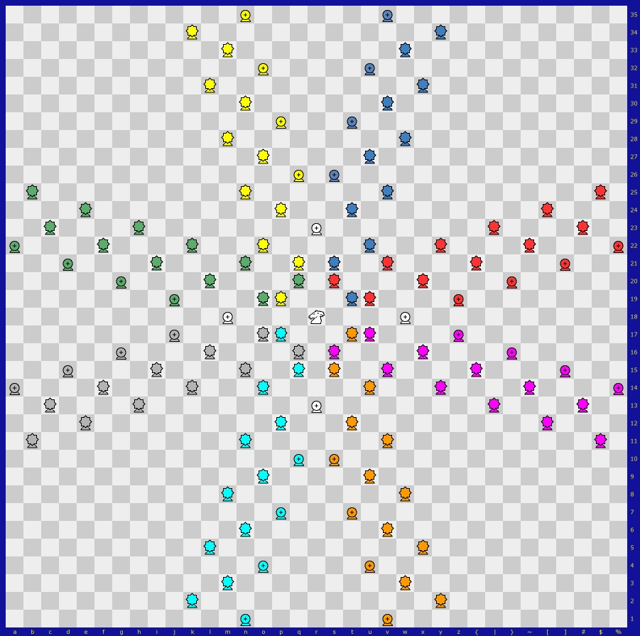 Game Courier Comment Listing Four Move Checkmate Diagram We Can See That There Are 8 Pure And Impure Trajectories The First Indicated By Guards Of A Same Color Second Mix Wazirs