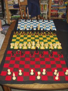 Figure 2. The Dragonchess boards fully set up