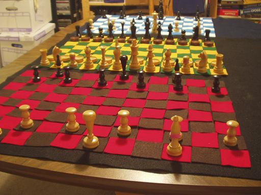 Figure 3. The Dragonchess board setup as seen from the Underworld