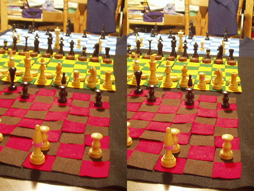 Figure 10. The full Dragonchess setup (stereoscopic view)