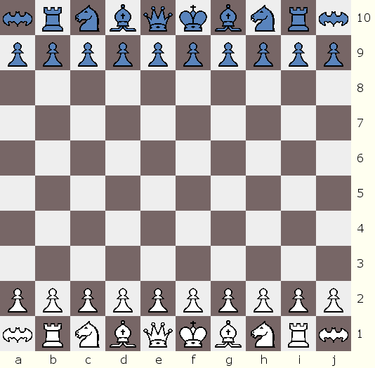 Flying Bomber Chess starting position