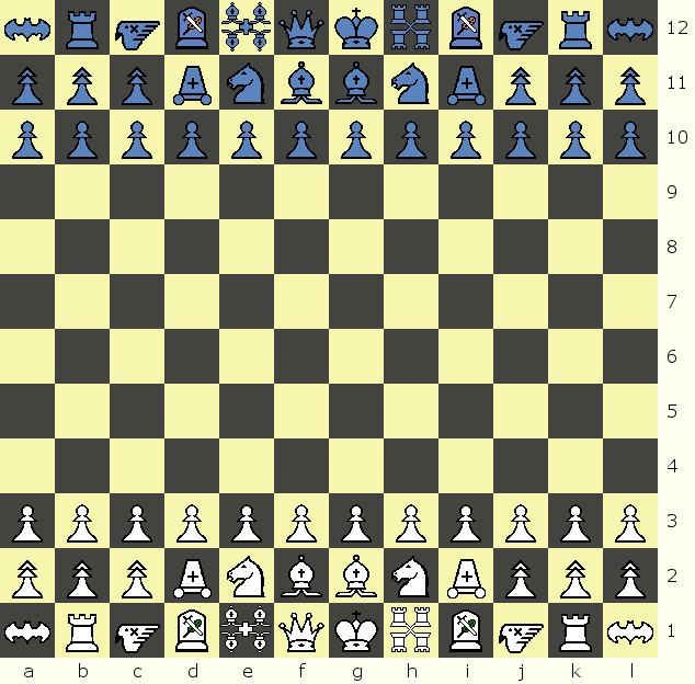 Titan Chess start position